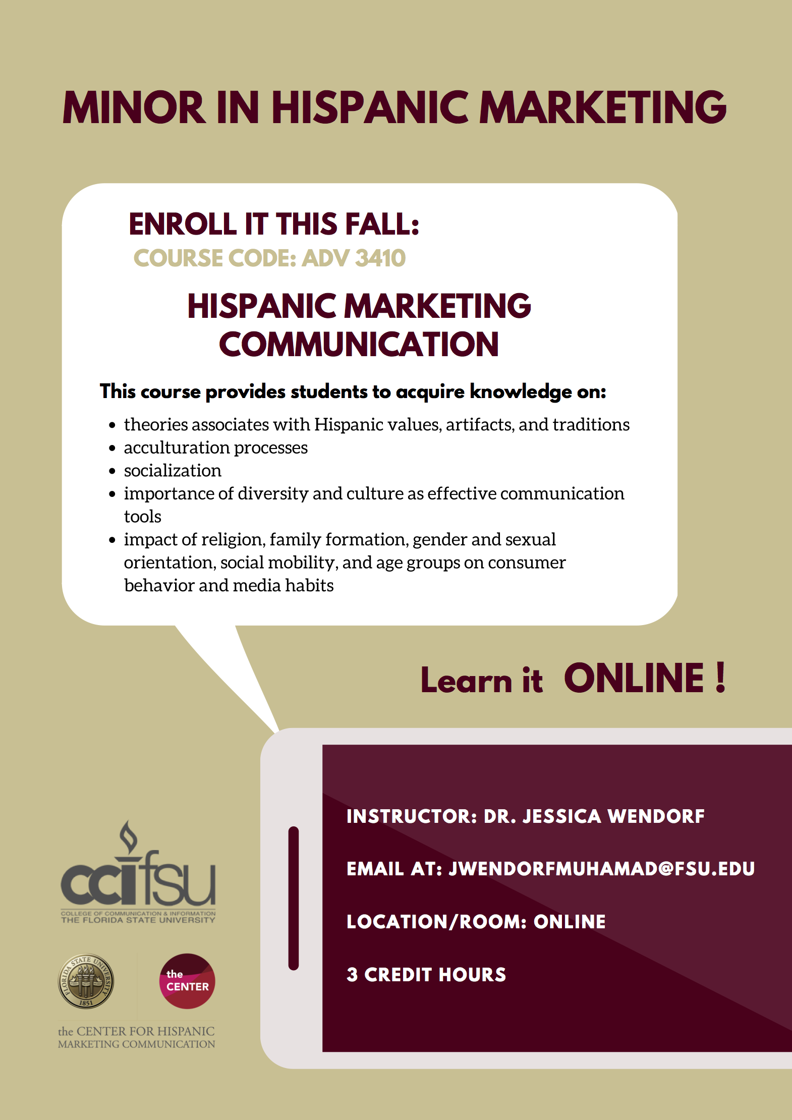 hispanic marketing communication The center for hispanic marketing communication at florida state university  named rafael jaramillo from emerson, beth f trac.